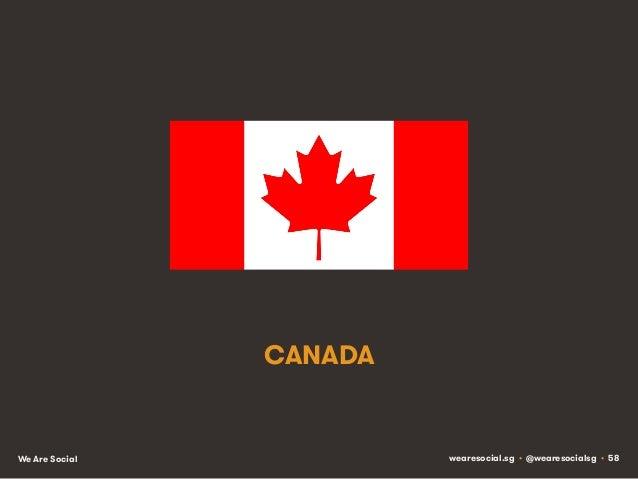 CANADA  We Are Social  wearesocial.sg • @wearesocialsg • 58