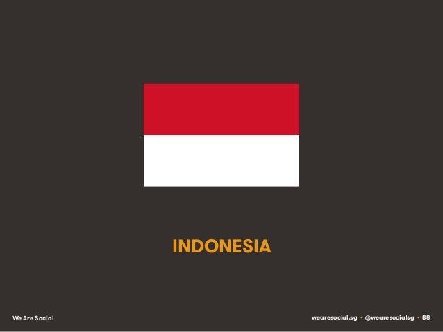 INDONESIA  We Are Social  wearesocial.sg • @wearesocialsg • 88