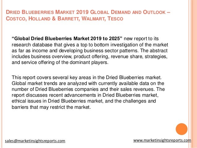 Global dried blueberries market insights, forecast to 2025
