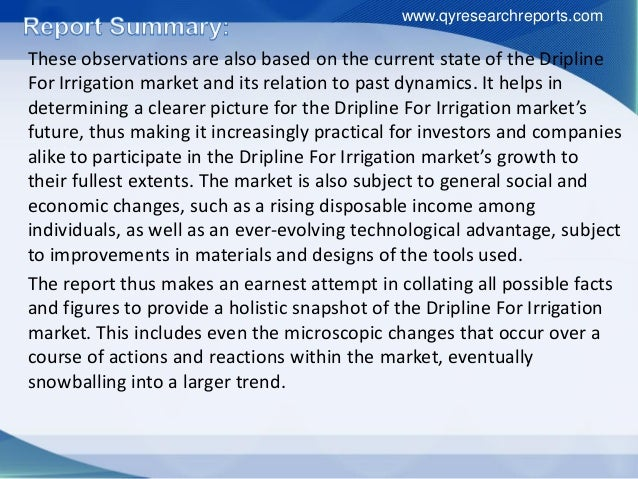 Global dripline for irrigation market 2016 industry analysis, research, share, growth and forecast to 2021 Slide 3