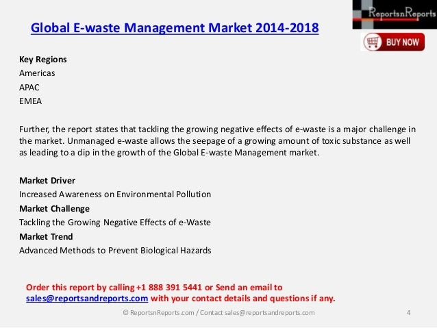 global e waste management market 2014 2018 This statistic represents the projected size of the global waste management market most popular global mobile messenger apps 2018 solid waste 1960-2014.
