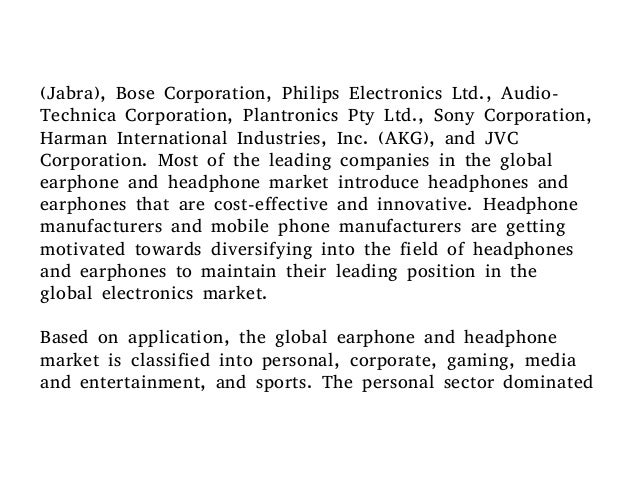 Global earphone and headphone market to expand at 7.0% ...