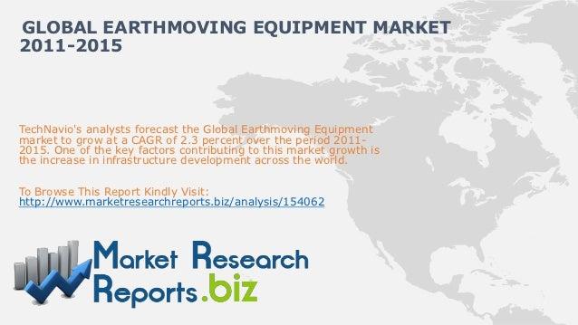 GLOBAL EARTHMOVING EQUIPMENT MARKET2011-2015TechNavios analysts forecast the Global Earthmoving Equipmentmarket to grow at...