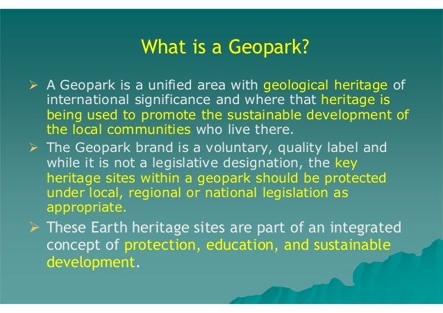 Take-Aways 1.  2.  The incorporation of the geotourism experience (with traditional nature tourism and elements of other '...