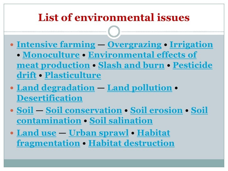 Global ecological problems list of environmental issues sciox Gallery