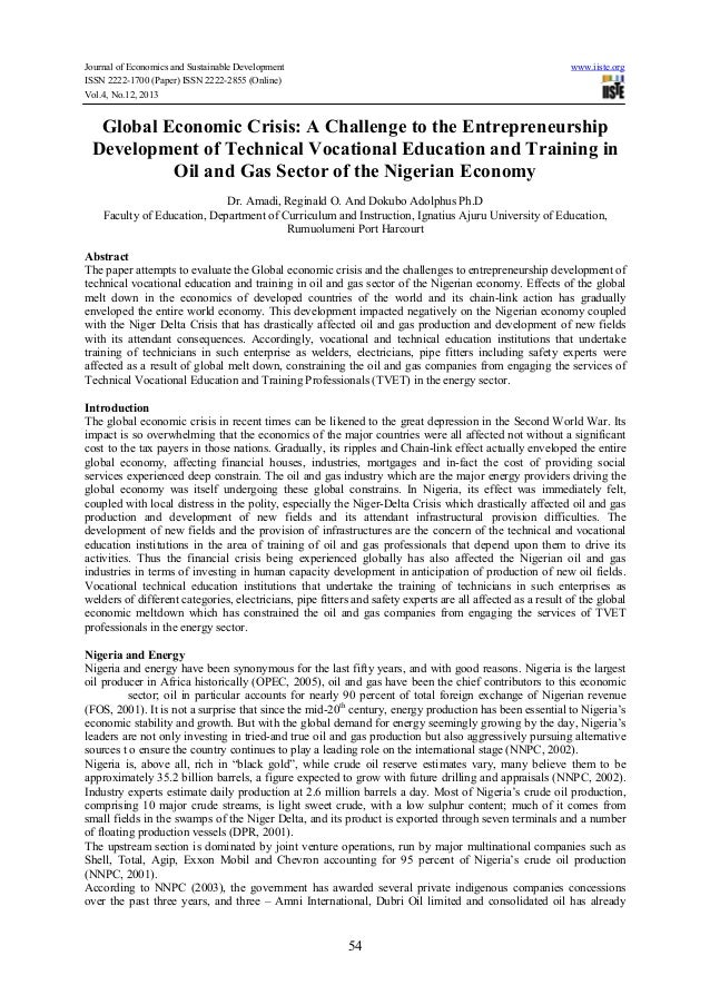 Journal of Economics and Sustainable Development www.iiste.org ISSN 2222-1700 (Paper) ISSN 2222-2855 (Online) Vol.4, No.12...