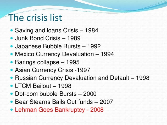 economic meltdown It's been 21 months since two bear stearns hedge funds defaulted setting off a series of events which have led to the gravest economic crisis since the great.