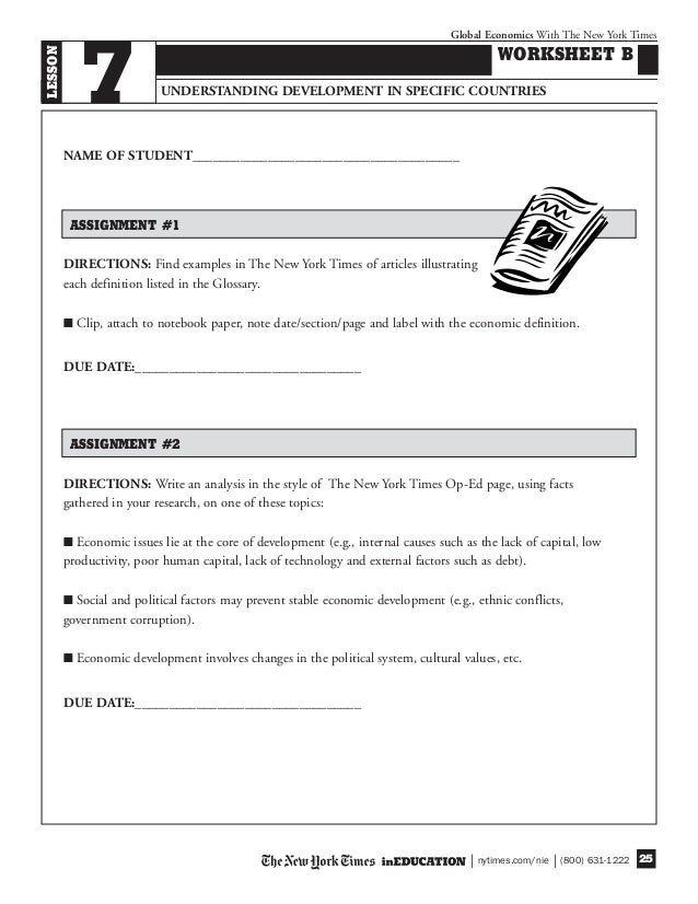 understanding economic issues worksheet Course plans current issues each of our evolving course plans and worksheet series can be followed systematically or you can speaking and understanding.