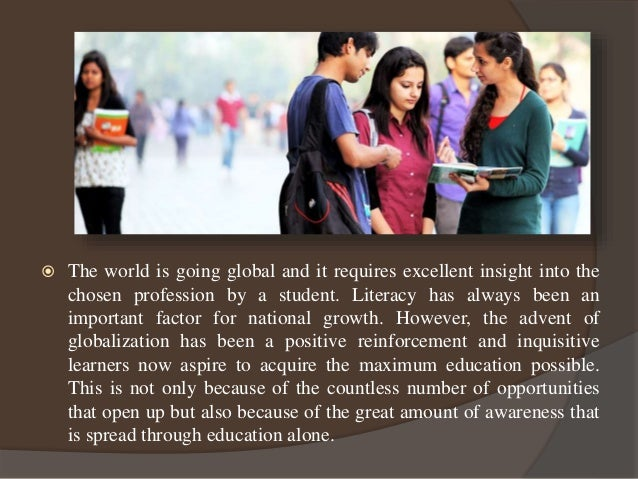 Global education - an exceptional learning experience Slide 3