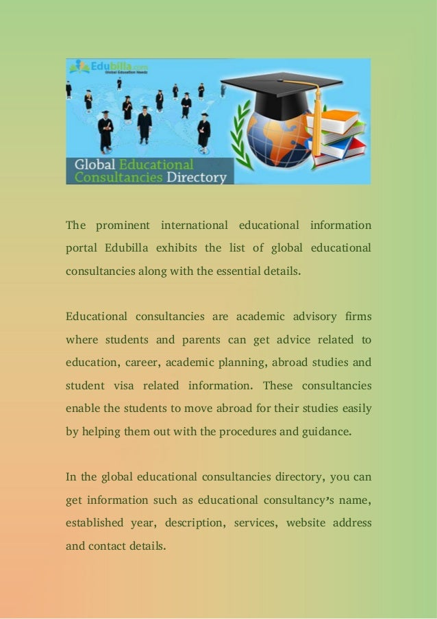 Global educational consultancies directory Slide 2