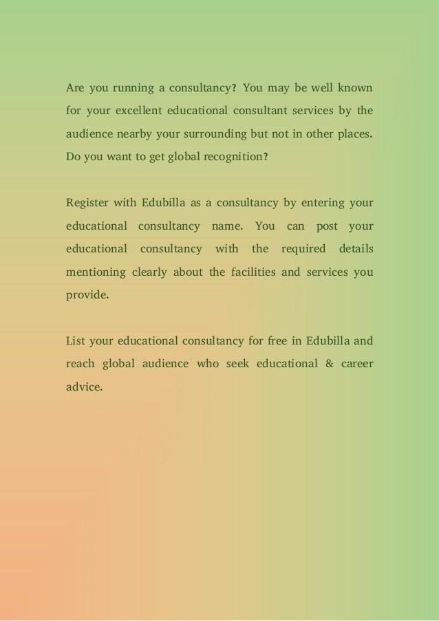Global educational consultancies directory Slide 3