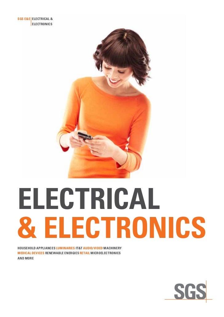 SgS E&E ElEctrical &        ElEctronicSElEctrical& ElEctronicShouSEhold appliancES luminariES it&t audio/vidEo machinErymE...