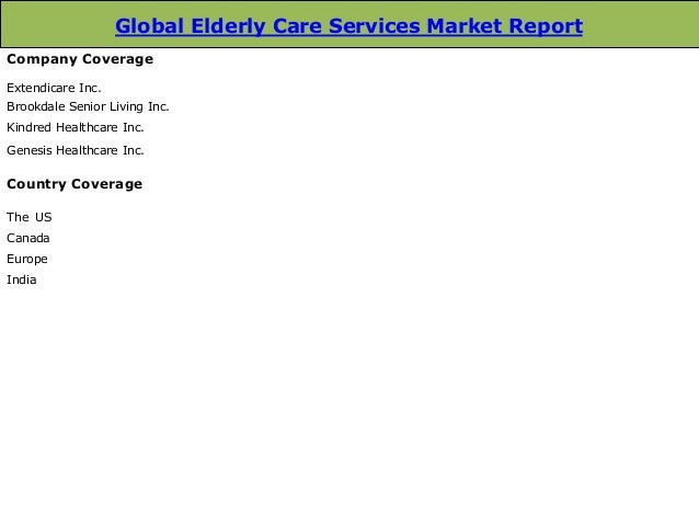 Global Elderly Care Services Market: Trends and