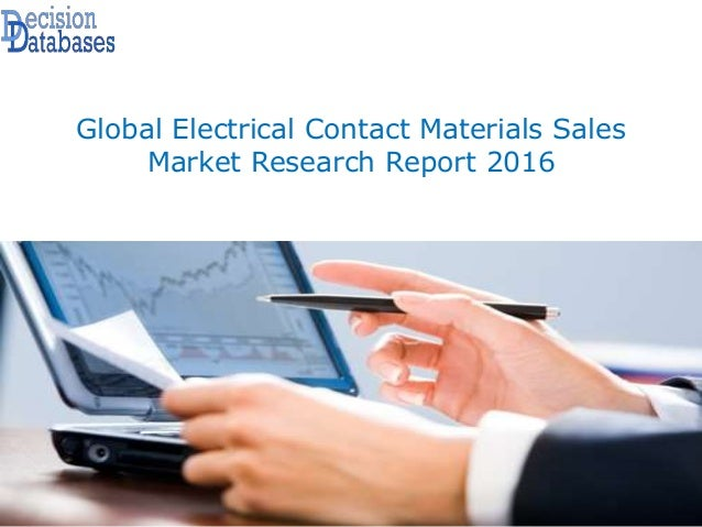 Global Electrical Contact Materials Sales Market Research Report 2016
