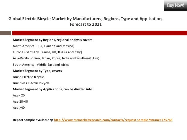 Global Electric Bicycle Market Risk Forecast Analysis Report
