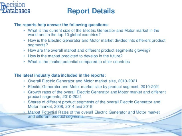 Global Electric Generator And Motor Market Share And