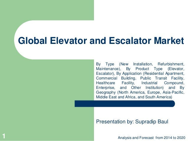 Global Elevator and Escalator Market By Type (New Installation, Refurbishment, Maintenance), By Product Type (Elevator, Es...