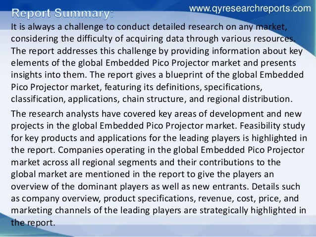 Global embedded pico projector industry 2015 market research report Slide 2