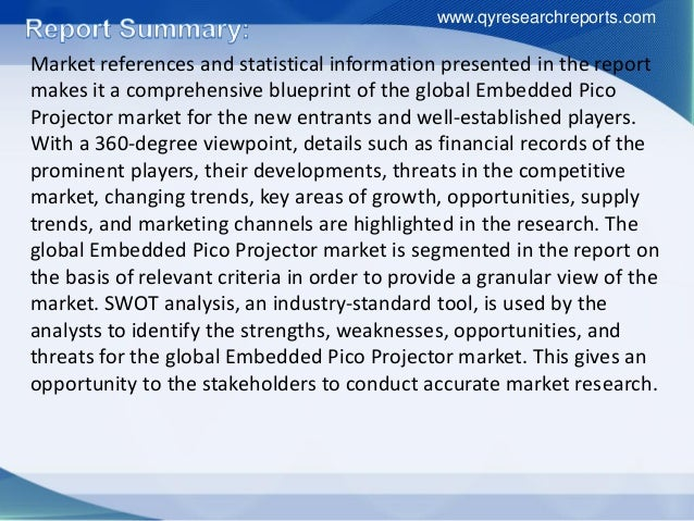 Global embedded pico projector industry 2015 market research report Slide 3