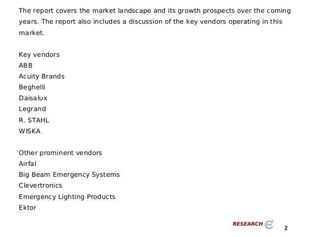Global emergency lights market 2016 2020