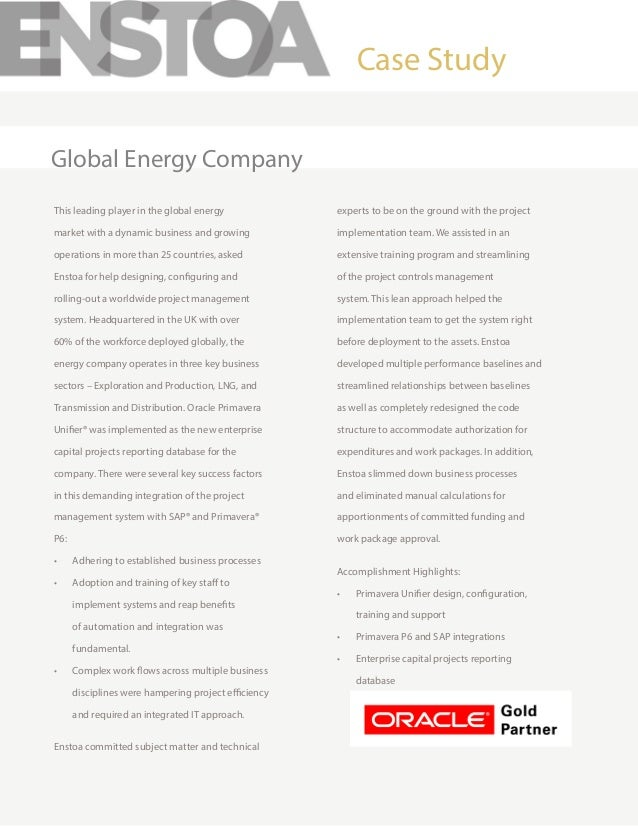 This leading player in the global energy market with a dynamic business and growing operations in more than 25 countries, ...