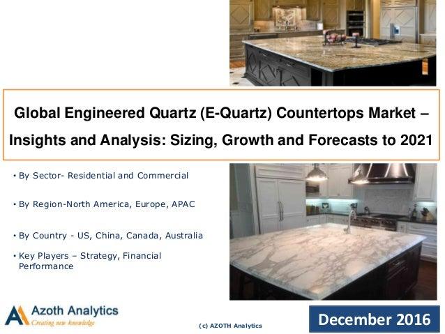 c AZOTH Analytics December 2016 Global Engineered Quartz E Quartz Countertops For Your Home - Modern engineered quartz countertops Awesome