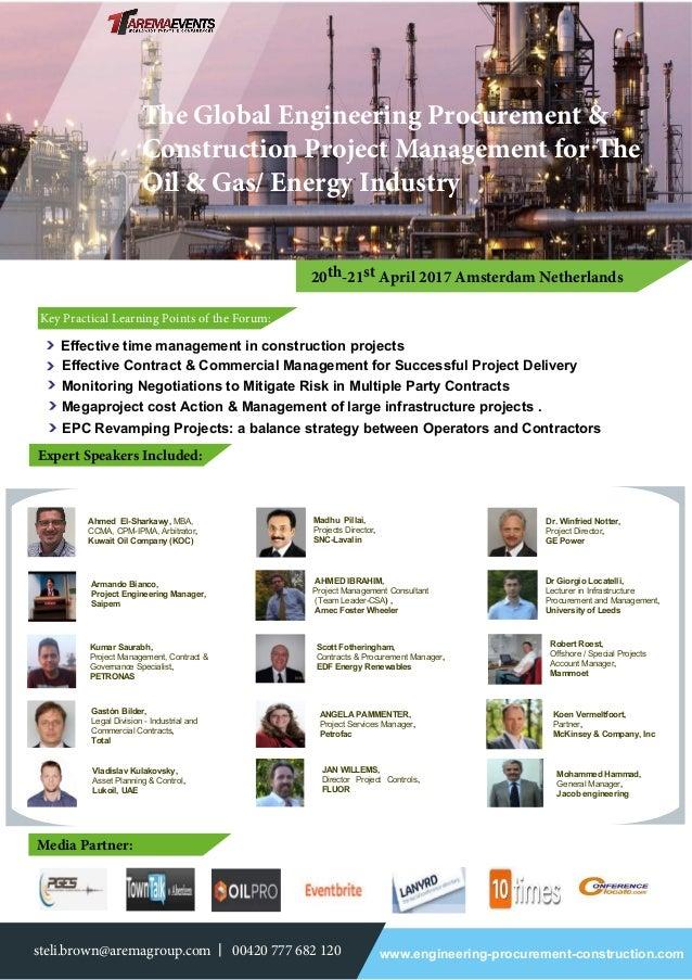 Global EPC Project Management Forum 20-21 APRIL 2017 AMSTERDAM
