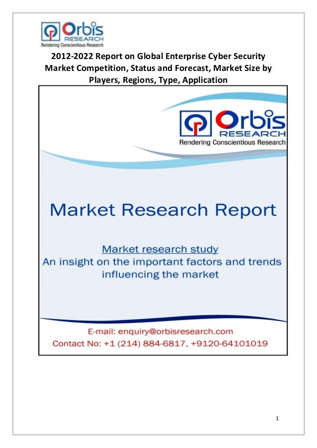 1 2012-2022 Report on Global Enterprise Cyber Security Market Competition, Status and Forecast, Market Size by Players, Re...