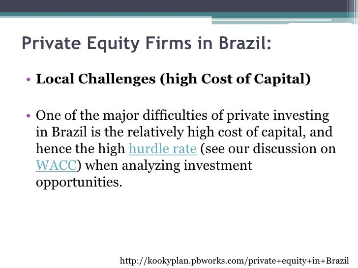 What is a hurdle rate in private equity - Cost of inflation