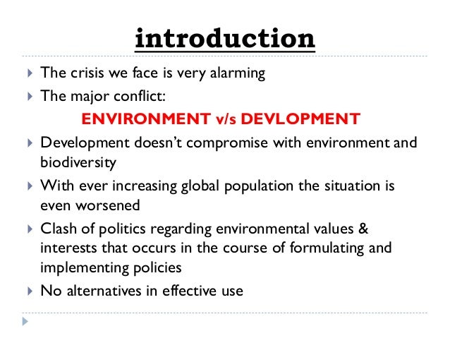 An introduction to the issue of environmental crisis