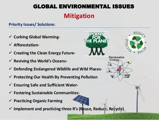 environmental issues global warming essay Introduction and meaning: the rise in earth's surface temperature as a consequence of greenhouse effect is called global warming what causes global warming 1.