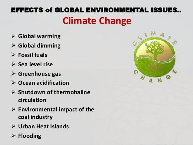 an examination of the environmental effects of global warming To assure the reader that i have done years of research on this subject, i have also listed my major papers that deal directly with ecological effects of global warming or provide some scientific results essential to assessing some of its possible ecological effects.