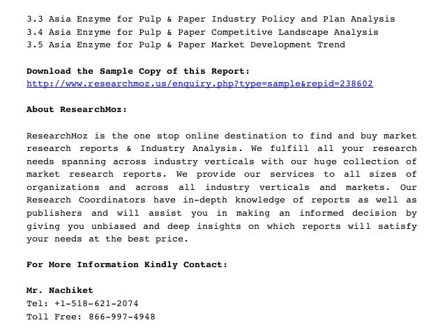 Paper pulp market research