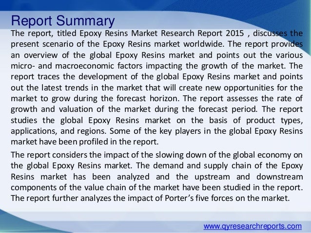 Epoxy resin market analyzed for growth   Coursework Example