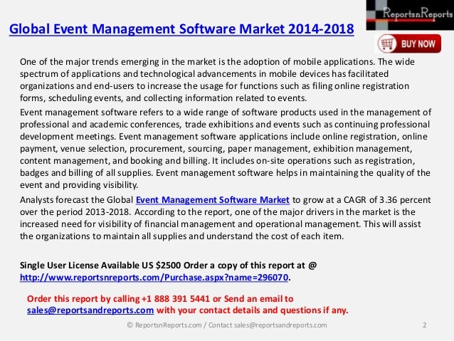 global event management software market Events market research reports and industry analysis examine events market and events related services  global event management software market 2018-2022 may 15,.