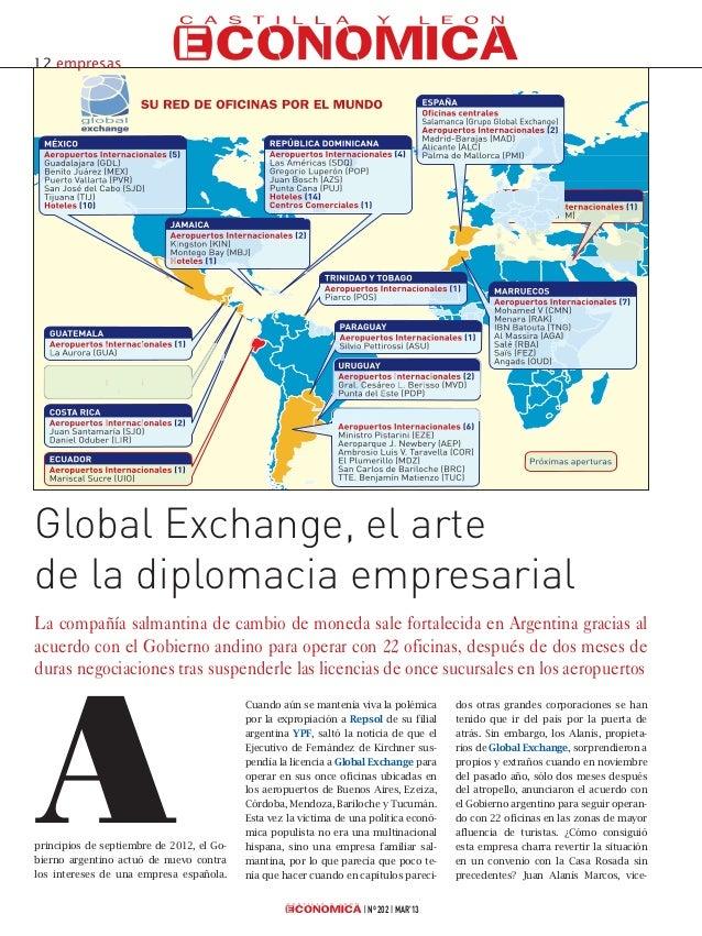 12 empresasGlobal Exchange, el artede la diplomacia empresarialLa compañía salmantina de cambio de moneda sale fortalecida...