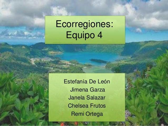Estefanía De LeónJimena GarzaJanela SalazarChelsea FrutosRemi OrtegaEcorregiones:Equipo 4