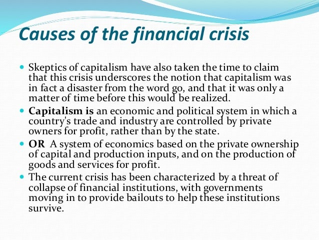 Thesis on global financial crisis