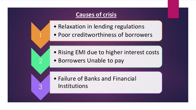 causes of the financial crisis in 2008 August 2007 marked the beginning of the worst financial crisis since the great depression wsj's finance and banking editors break down the events that led to the 2008 financial crisis.