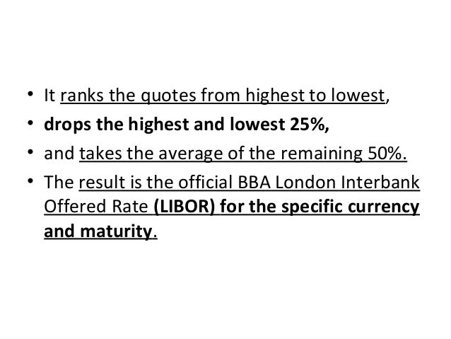 • It ranks the quotes from highest to lowest, • drops the highest and lowest 25%, • and takes the average of the remaining...
