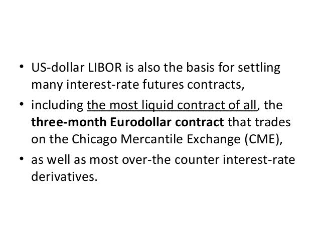 • US-dollar LIBOR is also the basis for settling many interest-rate futures contracts, • including the most liquid contrac...