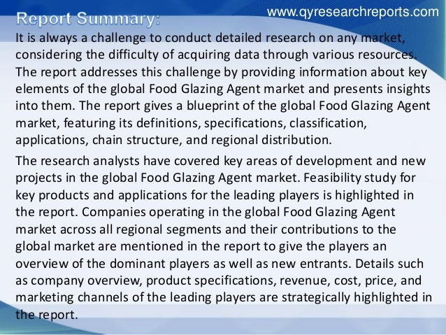 Global food glazing agent industry 2016 market analysis, demand, growth, size, share, development trend and forecast Slide 2