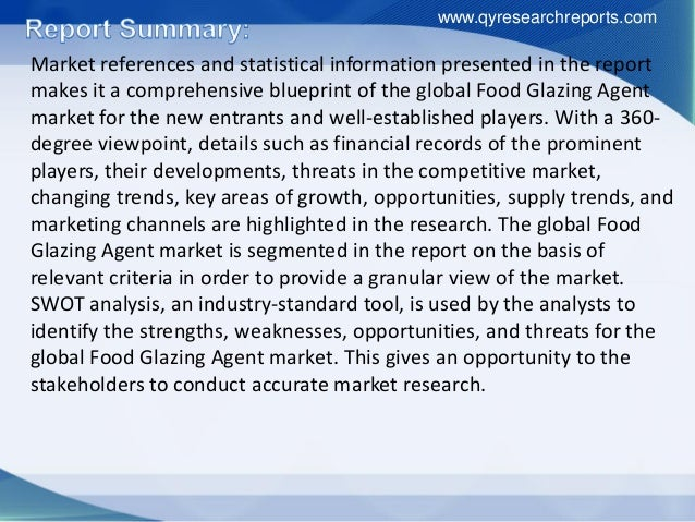 Global food glazing agent industry 2016 market analysis, demand, growth, size, share, development trend and forecast Slide 3