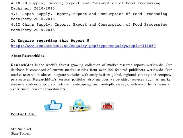 Food Processing Machinery Market Research