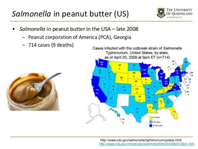 Salmonella in peanut butter (US) • Salmonella in peanut butter in the USA – late 2008 – Peanut corporation of America (PCA...