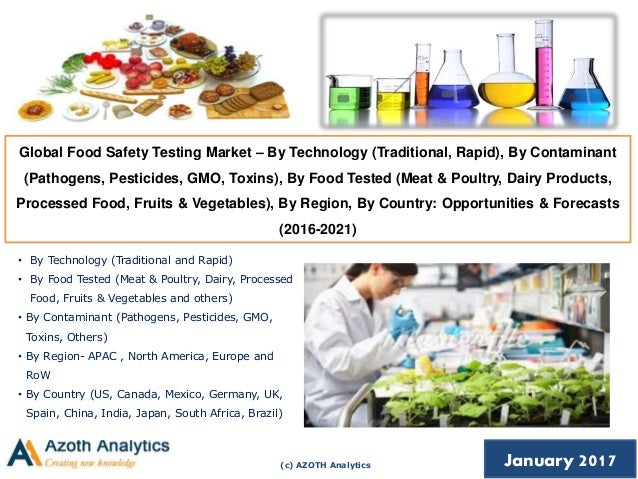 global food safety testing market The global food safety testing systems & services market: focus on technology (pcr, immunoassay, inductive coupled plasma.