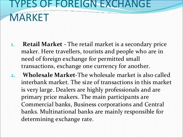 Foreign exchange spot market