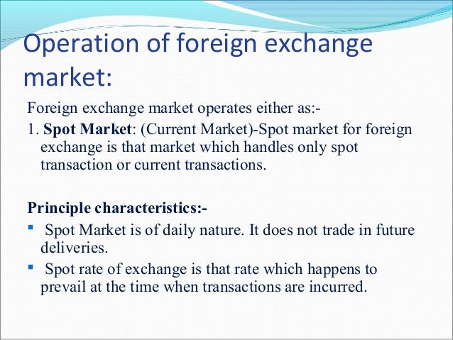 Foeign exchange