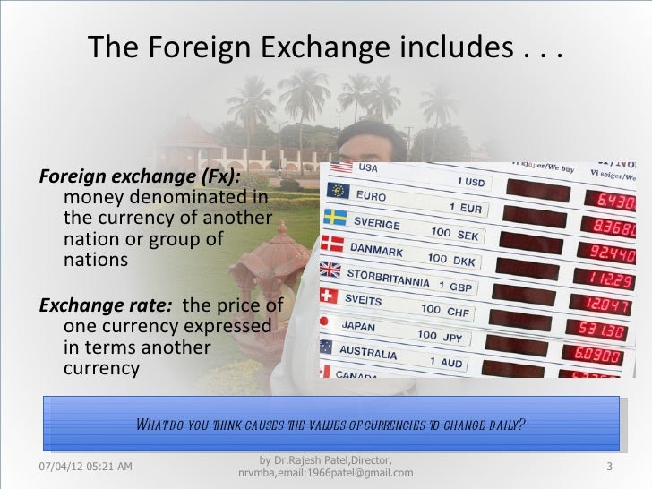 World foreign exchange