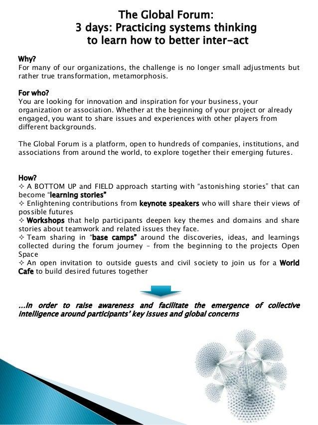 SoL Global Forum Program Slide 3
